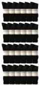 Yacht & Smith Men's King Size Premium Cotton Crew Socks Black Size 13-16 24 pack