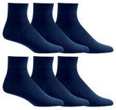 Yacht & Smith Women's Diabetic Cotton Ankle Socks Soft Non-Binding Comfort Socks Size 9-11 Navy 6 pack
