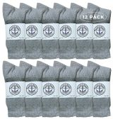 Yacht & Smith Women's Premium Cotton Crew Socks Gray Size 9-11 12 pack