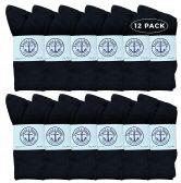 Yacht & Smith Women's Premium Cotton Crew Socks Black Size 9-11