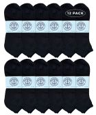 Yacht & Smith Men's King Size No Show Ankle Socks Size 13-16 Black
