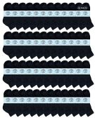 Yacht & Smith Kids Cotton Quarter Ankle Socks In Black Size 4-6 48 pack