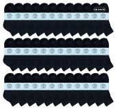 Yacht & Smith Kids Cotton Quarter Ankle Socks In Black Size 4-6 36 pack