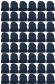 Yacht & Smith Unisex Winter Warm Beanie Hats In Solid Black 120 pack