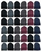 Yacht & Smith Mens Womens Warm Winter Hats in Assorted Colors, Mens Womens Unisex (24 Pairs Assorted) 24 pack