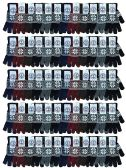 Yacht & Smith Snowflake Print Mens Winter Gloves With Stretch Cuff 60 pack