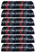 Yacht & Smith Unisex Snowflake Fleece Lined Winter Beanie 6 Colors 144 pack
