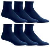 Yacht & Smith Women's Diabetic Cotton Ankle Socks Soft Non-Binding Comfort Socks Size 9-11 Navy 6 pack