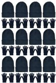 Yacht & Smith Mens Womens Warm Winter Hats in Assorted Colors, Mens Womens Unisex (Unisex Hat Glove Set)