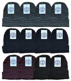 Yacht & Smith Mens Womens Warm Winter Hats in Assorted Colors, Mens Womens Unisex (12 Pack Stripe) 12 pack