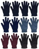 Wholesale Bulk Winter Magic Gloves Warm Brushed Interior, Stretchy Assorted Mens Womens (Mens/Assorted, 12) 12 pack