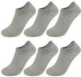 Yacht & Smith Unisex Kids No-Show Ankle Socks Size 6-8 Gray BULK PACK 60 pack