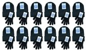 Yacht & Smith Womens Warm Winter Sets 240 Pairs Of Gloves And 240 Hats Solid Black 480 pack