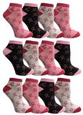 Yacht & Smith Pink Ribbon Breast Cancer Awareness Ankle Socks for Women 12 pack