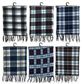 Yacht & Smith Unisex Warm Winter Plaid Fleece Scarfs Assorted Colors Size 60x12 6 pack