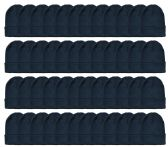 Yacht & Smith Unisex Winter Warm Beanie Hats In Solid Black 48 pack
