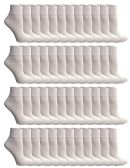 SOCKSNBULK Mens Bulk Pack Ankle Socks Size 10-13 (Shoe Size 7-12), White