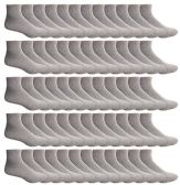 SOCKSNBULK Mens Bulk Pack Ankle Socks Size 10-13 (Shoe Size 7-12), Gray
