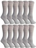 SOCKSNBULK Bulk Pack Cotton Crew Socks, Size 9-11 (Gray)