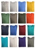 SOCKSNBULK Mens Cotton Crew Neck Short Sleeve T-Shirts Mix Colors Bulk Pack Value Deal (120 Pack Mix, Medium)