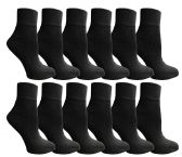 SOCKSNBULK Women's Bulk Pack Cotton Ankle Socks, Size 9-11 (Black)