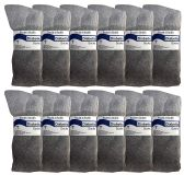 SOCKSNBULK Women's Diabetic Cotton Crew Socks Soft Non-Binding Comfort Socks Size 9-11 Gray