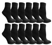 SOCKSNBULK Value Pack of Cotton Ankle Socks Kids Size 4-6 Black