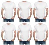 SOCKSNBULK Mens Cotton Crew Neck Short Sleeve T-Shirts Mix Colors Bulk Pack Value Deal (6 Pack White, Medium)