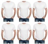 Mens Cotton Crew Neck Short Sleeve T-Shirts Mix Colors Bulk Pack Value Deal (6 Pack White, Small)