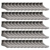SOCKS'NBULK USA Cotton Sport Athletic Ankle Socks, Sport Sweat Socks USA Themed (Gray, 10-13)