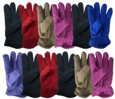 Yacht & Smith Kids Warm Winter Colorful Fleece Gloves Assorted Colors 36 pack