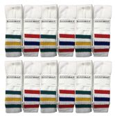 Yacht & Smith Mens & Womens Wholesale Bulk Cotton Tube Socks, Referee Style