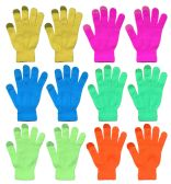 Yacht & Smith Unisex Neon Winter Texting Gloves, Warm Thermal Winter Gloves 144 pack