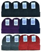 Yacht & Smith Unisex Winter Knit Hat Assorted Colors 144 Pack 144 pack