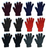 Yacht & Smith Unisex Winter Texting Gloves, Warm Thermal Winter Gloves Assorted Colors 144 pack