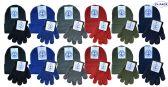 Yacht & Smith Wholesale Kids Beanie and Glove Sets (Beanie Glove Set, 24) 24 pack
