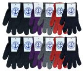 Yacht & Smith Women's Warm And Stretchy Winter Magic Gloves 240 Pairs 240 pack